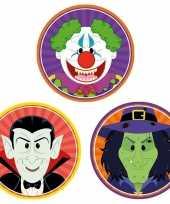 Halloween 30x halloween onderzetters vampier heks horror clown trend