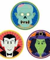 Halloween 30x halloween onderzetters vampier heks zombie trend