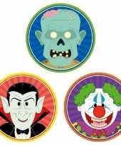 Halloween 30x halloween onderzetters vampier horror clown zombie trend