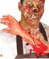Halloween afgehakte arm met bloed 32 cm trend