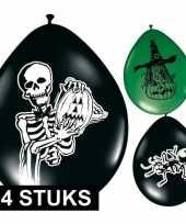 Halloween ballonnen zwart groen 24 stuks trend