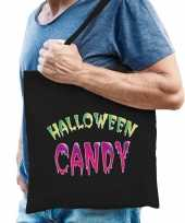 Halloween candy snoep cadeau tas zwart voor heren trend