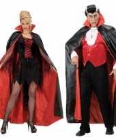 Halloween cape zwart rood trend