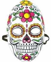 Halloween day of the dead sugarskull halloween gezichtsmasker voor dames trend