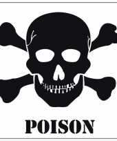 Halloween decoratie giftig poison sticker 10 5 cm trend