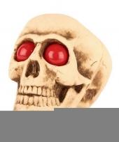 Halloween decoratie halloween schedel met lichtgevende ogen trend