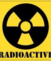 Halloween decoratie radioactief radioactive sticker 10 5 cm trend