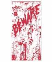 Halloween deurposter met bloed trend