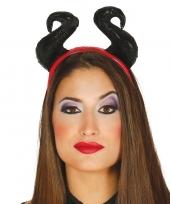 Halloween diadeem met zachte hoorns voor dames trend