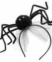 Halloween diadeem met zwarte spin trend