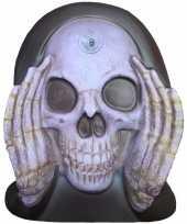 Halloween enge gluurder skelet hoofd decoratie trend