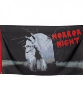 Halloween gevelvlag horror night 150 cm trend
