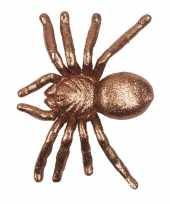 Halloween gouden grote halloween decoratie spin met glitters trend