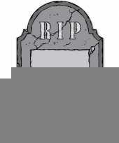 Halloween grafsteen rip krijtbord halloween versiering decoratie 53 cm trend