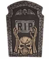 Halloween grafsteen rip met knipperende led ogen 54 cm trend