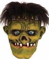 Halloween groen eng halloween frankenstein masker van latex trend