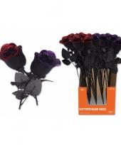 Halloween halloween kunst roos zwart met paars trend