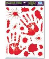 Halloween halloween raamsticker met bloed handen trend