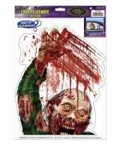 Halloween halloween raamsticker zombie met bloed trend