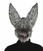 Halloween hazen masker met kunstbond trend