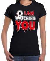 Halloween i am watching you verkleed t-shirt zwart voor dames trend