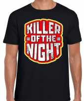 Halloween killer of the night verkleed t-shirt zwart voor heren trend