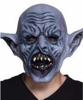 Halloween latex blauw ork monster hoofdmasker voor volwassenen trend