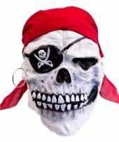 Halloween latex horror masker doodskop piraat trend