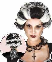 Halloween markies vampier dracula damespruik trend
