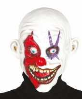 Halloween masker horror clown met kaal hoofd trend