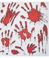 Halloween raamstickers bloedende handafdrukken trend
