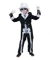 Halloween skelet kostuum voor jongens trend