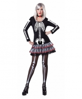 Halloween skelet verkleed kostuum voor dames trend