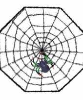Halloween spinnenweb 38 x 38 cm halloween versiering met spin trend