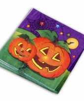 Halloween thema servetten 20 stuks trend