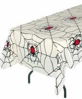 Halloween wit halloween spinnenweb tafelkleed 135 x 270 cm trend