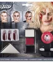 Halloween zombie schminkset met bloed capsules trend