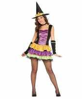 Halloween zwart heksen kostuum voor dames trend