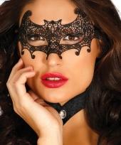 Halloween zwart kanten halloween oogmasker vleermuis voor dames trend