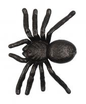 Halloween zwarte grote halloween decoratie spin met glitters trend