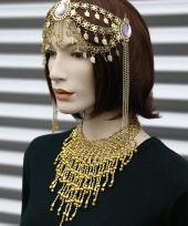 Halsketting goud met steentjes trend