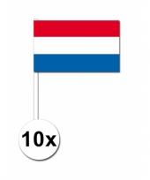 Handvlag nederland set van 10 trend