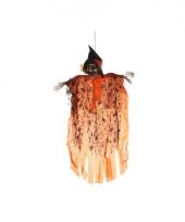Hangdecoratie geest skelet oranje trend