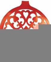 Hangdecoratie kerstbal rood 32 cm trend