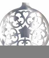 Hangdecoratie kerstbal zilver 49 cm trend