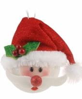 Hangdecoratie kerstman 18 cm trend