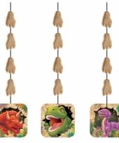 Hangende dinosaurus decoratie 3 stuks trend