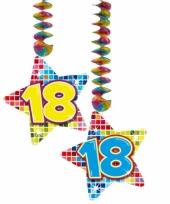 Hangversiering 18 jaar 2 stuks trend