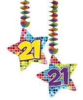 Hangversiering 21 jaar 2 stuks trend