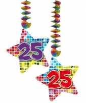 Hangversiering 25 jaar 2 stuks trend